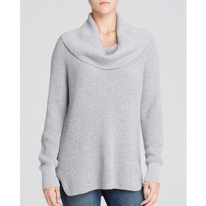 Michael Kors Grey Waffled Turtleneck Sweater